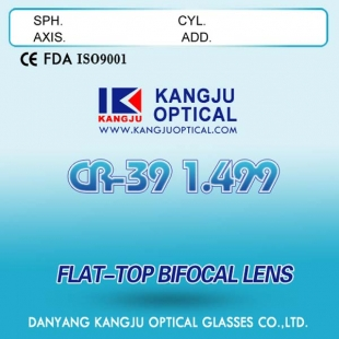 Cr39 1.499 flat-top Bifocal